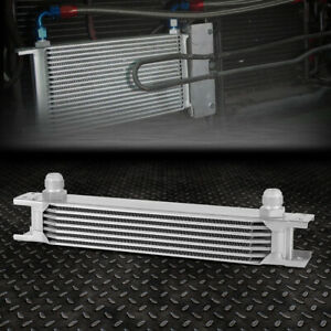 Universal 7 Row 10an Coolant Transmission Engine Oil Cooler Extra Radiator Kit
