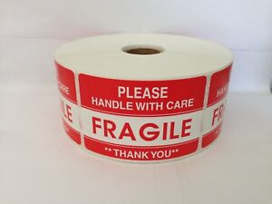 1000 Labels 2x3 Please Fragile Handle With Care Shipping Mailing Warning Sticker