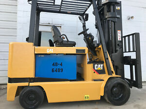 Caterpillar Electric E12000 12000lb Forklift Lift Truck