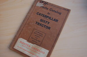 Caterpillar Sixty Tractor Crawler Dozer Parts Manual Book Catalog Vintage 60 Pa