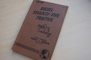 Caterpillar Seventy Five Tractor Crawler Dozer Parts Manual Book Catalog 75 2e