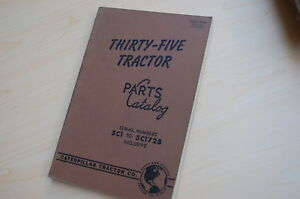 Caterpillar Thirty Five Tractor Crawler Dozer Parts Manual Book Catalog 35 List
