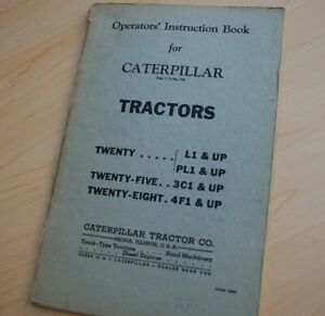 Caterpillar 20 25 28 Tractor Crawler Dozer Owner Operator Operation Manual Book