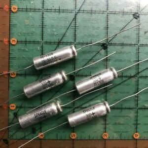 Sprague Axial Electrolytic Capacitor 75uf 50v 30d756m050df2a 105 20pcs