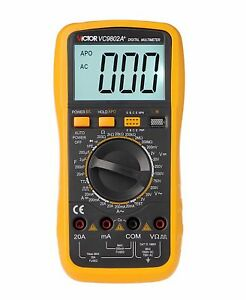 Victor Vc9802a Digital Multimeter 3 1 2 With Carrying Bag new