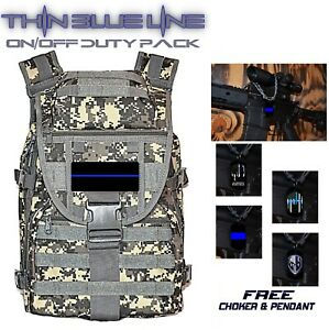 Law Enforcement Thin Blue Line Tactical Backpack Molle On off Duty Bag Gift