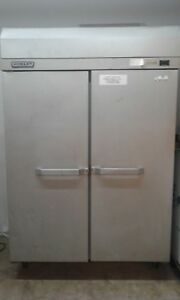 Hobart Q2 Two Door Stainless Commercial Freezer 48 9 Cu ft With Shelves 120 Volt
