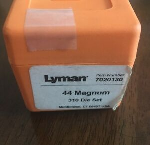 LYMAN IDEAL 310 RELOADING TOOL COMPLETE WITH DIES 44 Magnum & BOX