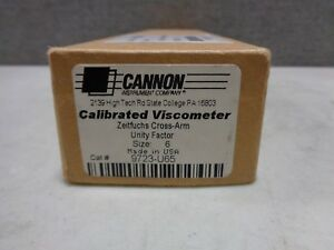 Cannon Zcaxc 6 Zeitfuchs Cross arm Unity Factor Calibrated Viscometer 200 To 1