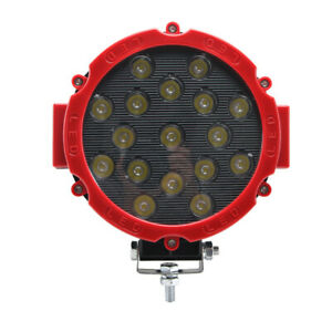 4x 51w Red Round Led Work Light Spot Beam Off road Fog Driving 4wd Boat Ute Lamp