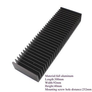 300x92x40m Aluminum Heat Sink Extruded Cooling Block Tansistor Power Modules X1