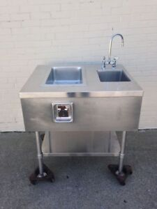 36 Stainless 1 well Steam Table W Handsink Drop in Hot Well Food Warmer