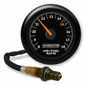 Innovate 3855 Mtx Al Analog Air Fuel Ratio Gauge Kit Black Dial Display 8 18 Afr