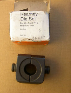 New Size 0 Kearney Hydraulic Power Head Die Set 0 Cat 36467 For Wh 2