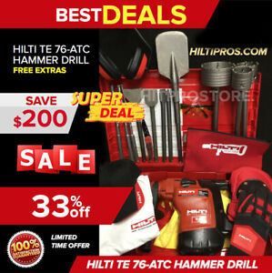 Hilti Te 76 Hammer Drill preowned Free Gloves Bag Bits More Quick Ship