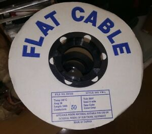 200 Feet Flat Cable 34 Conductor 28 Awg 300v 2 rolls