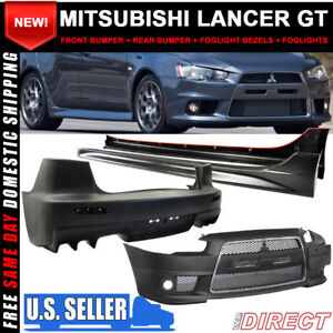 For 08 14 Lancer Gt Front Rear Side Full Evo Conversion Chrome Grill Bodykit