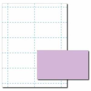 Lavender Purple Business Card Printer Paper 100 Sheets yields 1000 Cards