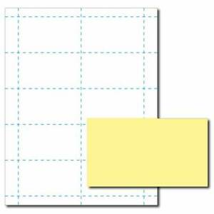 Canary Yellow Business Card Printer Paper 100 Sheets yields 1000 Cards