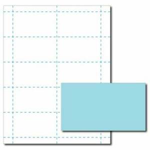 Blue Business Card Printer Paper 100 Sheets yields 1000 Cards