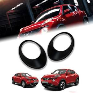 Matte Matt Black Cover Front Headlight Trim Fit For Nissan Juke 2011 12 13 2014