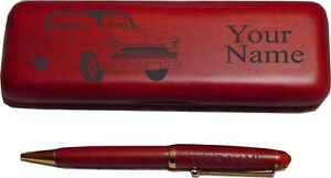 1955 Willys Bermuda Coupe Rosewood Pen Case Engraved