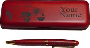Willys Jeepster Rosewood Pen Case Engraved