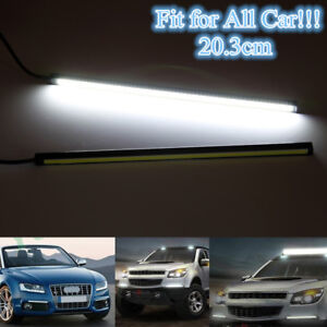 Super Bright White Car Cob Led Lights Drl Fog Driving Lamps Waterproof Dc 12v Us