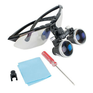 High end Luxury Dental Surgical Medical Binocular Loupes 2 5x 420mm Magnifier
