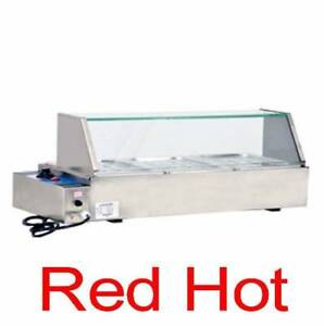 Fma Omcan 42156 Fw cn 0905 Commercial Bain Marie 3 Well Buffet Line Food Warmer