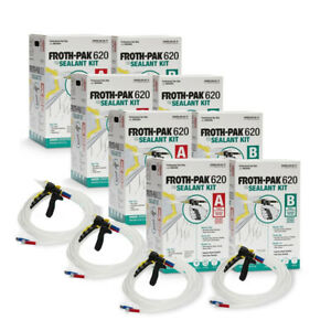 Spray Foam Insulation Kit Dow Froth Pak 620 4 Kits 2480 Board Feet Total
