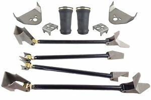 Triangulated 4 Link Kit Rear Brackets Tapered Bags Air Ride Suspension Weld On