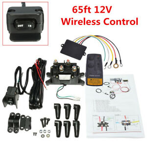 12v Car Atv Utv Solenoid Relay Contactor winch Rocker Switch Remote Control Kit