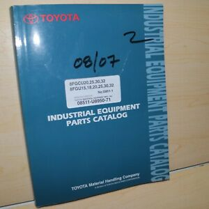 Toyota 8fgcu 8fgu Series Forklift Parts Manual Book Lift Truck Spare G851 3 2015