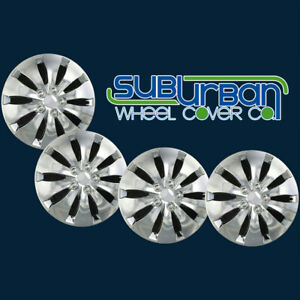 2008 2012 Honda Accord Lx Style Wchc 55071 16ch 16 Chrome Hubcaps New Set 4