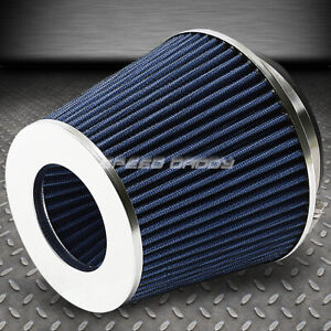4 6 H Cold Short Ram Intake High Flow Cone Blue Air Filter 3 3 5 Reducer