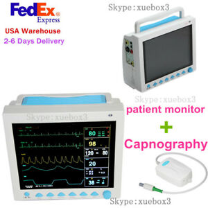 Fda Portable Vital Sign Patient Monitor Multiparameter Icu Ccu Capnography Etco2