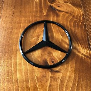 New Mercedes Benz Mb Trunk Black Star Emblem Badge 3 5 90mm 2128170016