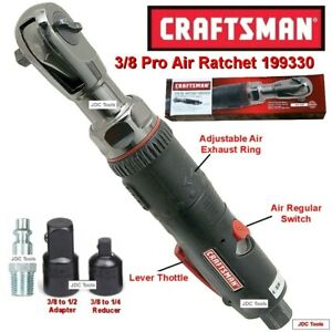 Craftsman Tools 3 8 Drive Pro Air Ratchet Wrench 1 2 1 4 Adapters 3 Tools In 1