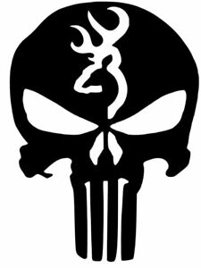 Browning Buck Deer Punisher Decal Car Truck Vinyl Sticker 12 Colors