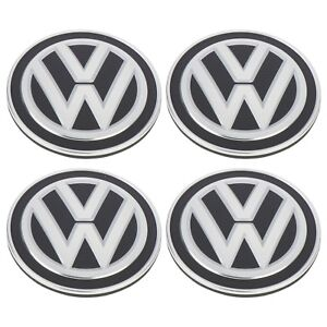 Four New Oem 2015 2018 Volkswagen Golf Gti Mk7 Carbon Fiber Wheel Center Caps