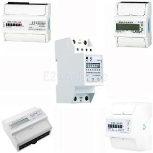 15 Kinds 1 3 Phase 2 4 Wire Power Kwh Energy Sub Meter Din Rail Mount Pick