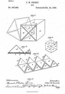 Singer Puzzle Box Copy Of Patent Dated 1889