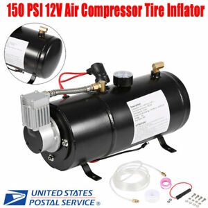 150psi 12v Automatic Air Compressor Tyre Truck On Board Inflator Pressure Pump