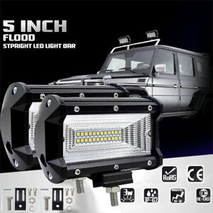 5 Inch 72w Flood Led Work Light Bar Boat Truck Offroad Suv Driving Waterproof