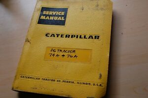 Cat Caterpillar D6 Tractor Dozer Crawler Repair Service Manual Engine Overhaul
