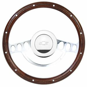 1969 84 Chevy Monte Carlo Nova Billet Wood Steering Wheel Set Chevy Horn