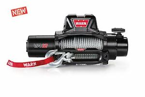 Warn 96820 Vr12 12000lb Winch 12v Hawse Fairlead 80 3 8 Wire Rope Cable