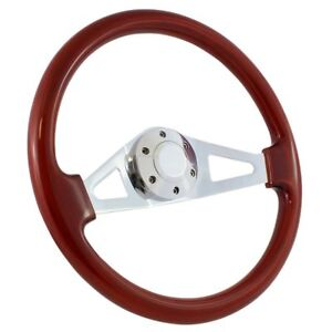 1970 77 Ford Truck F100 F150 F250 15 Wood Chrome Aviator Steering Wheel