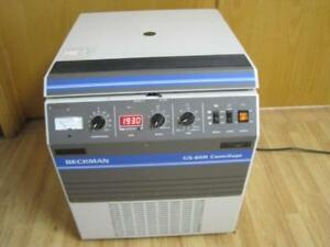 Beckman Gs 6kr Refrigerated Centrifuge 6400 Rpm With Ga 10 Slot Fixed Rotor